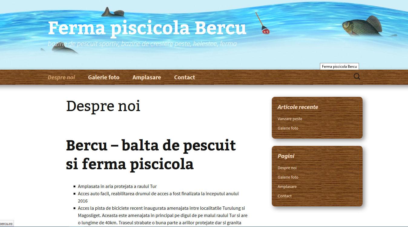 balta de pescuit Bercu